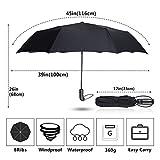 gfjfd Creativo Automatico Ombrello Pioggia Donne Uomini Lega di Alluminio 3Folding Wind Resistance Parasol 8K Conveniente Business Paraguas