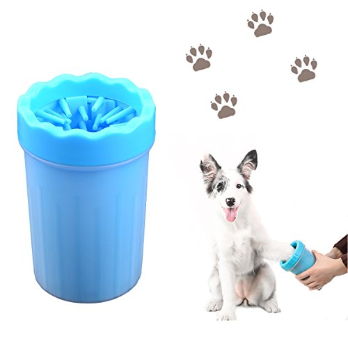 Dog Paw Cleaner, Audel Portable Dog Foot Washer Pet Cleaning Brush Cup Remove Mud and Dirt from Your Dogs Paws (Large)