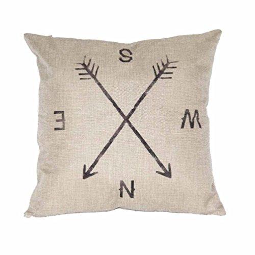 Sunnywill Kompass Leinen werfen Pillow Case Kissen Cover Home Decor ( Kissen ist nicht inbegriffen )