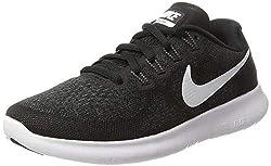 Nike Damen Free RN 2017 Laufschuhe, Schwarz (Black/White/Dark Grey/Anthracite 001), 36 EU