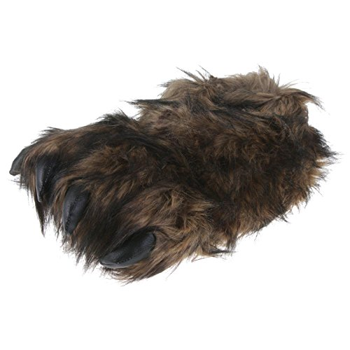 Hausschuhe Lustige Plüsch (Tierhausschuhe Big Foot Monster Kralle Tier Hausschuhe Pantoffel Schlappen Kuscheltier Plüsch Herren Braun 36-47, TH-BigFoot, Schuhgröße 42/43)