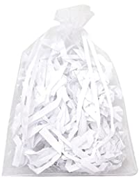SODIAL(R)Set of 100 large white organza bags - Pockets - Drawstring Cord - for Wedding, Jewelry, Gifts 11 cm x 16cm