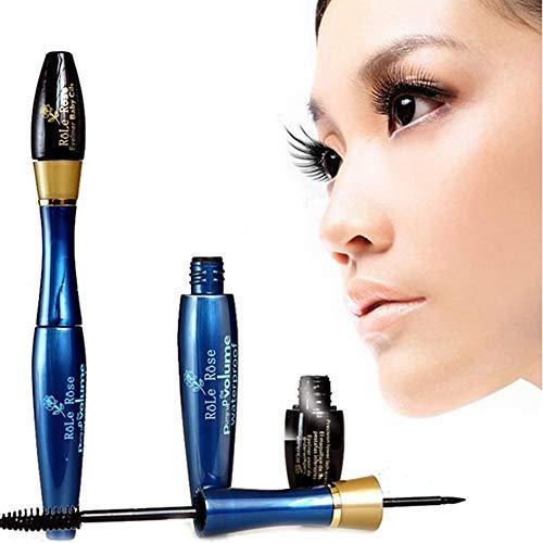 masrin Haltbare Wasserdichte faserwimperntusche Mascara naturfaser wimpern Kosmetik doppelkopf...