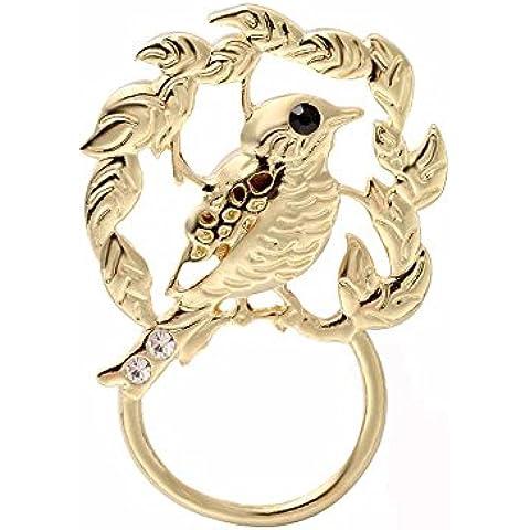 noumanda color oro uccelli sui rami magnetico porta occhiali, occhiali da sole Hanger, spilla, magnetica Pin