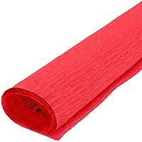 Leisial DIY Dekoration Bunt Krepppapier Bunt Origami Rosen Krepppapier Rot 2.5M*50CM