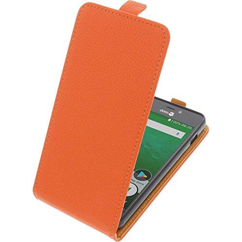 Tasche für Doro 8035 Smartphone Flipstyle Schutz Hülle orange