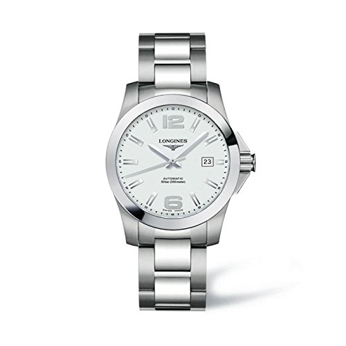 longines-conquest-automatic-l36764766-quandrante-white-strap-stainless-steel-clock