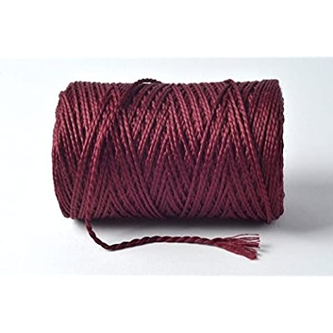 Borgogna/vino 100% cotone Spago–10metri lunghezza di taglio di Cranberry Card Company - Borgogna Filato