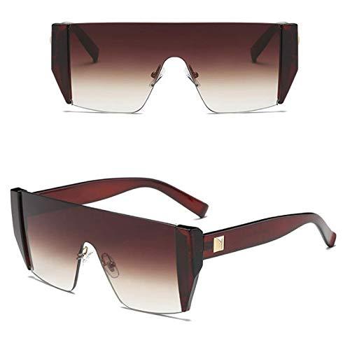 YUHANGH Übergroße Männer Frauen Sonnenbrillen Farbverlauf Linsen Quadrat Siamese Brille Frameless Driving Goggles