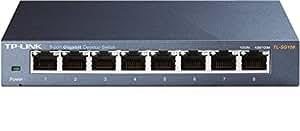 TP-Link TL-SG108 Switch 8 Ports Gigabit (Bureau, Boîtier Métal)