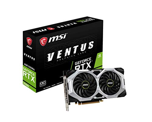 MSI GeForce RTX 2060 6GB GDRR6 192-bit HDMI/DP Ray Tracing Turing Architecture VR Ready Graphics Card (RTX 2060 Ventus 6G OC)