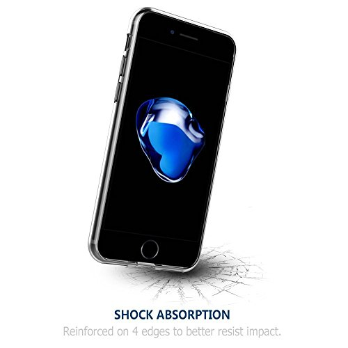 iPhone 7 Hülle iPhone 8 Hülle ONSON® Schutzhülle Schlagfesten Stoßstangen Case Silikon- Crystal Clear Ultra Dünn Durchsichtige Backcover Handyhülle [High Pro Shield] TPU Case für iPhone 7/8 (Transpare Weich