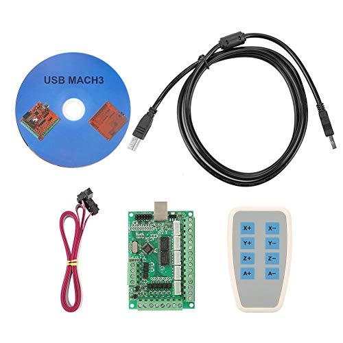 Breakout-modul (Micro USB Interface Controller Karte Breakout Board CNC MACH3 Motion Controller-Karte Einfach programmieren Modul mit Jog Handler für Gravierfräsmaschine Schrittmotortreiber Fräsmaschine Interface)