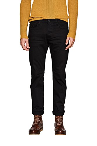 ESPRIT Collection Herren Straight Jeans Schwarz (Black Rinse 910)
