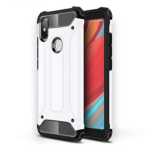 GUODONG Carcasa de telefono Magic Armor TPU + Estuche Combinado for PC for Xiaomi Redmi S2 (Negro) Funda Trasera para Smartphone (Color : Blanco)