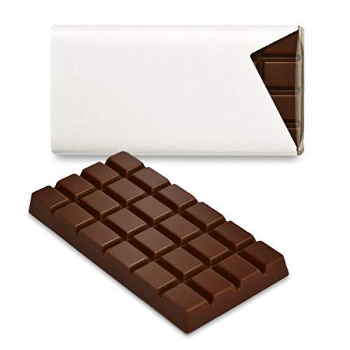 Schokoladena Schokotäfelchen 50 St. Zartbitter blanko für individuelle Gestaltung als Gastgeschenke und Tischkarten, inkl. Laserdruck-Etiketten