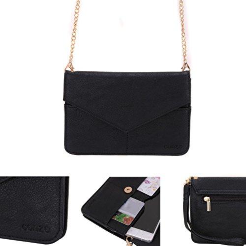 Conze da donna portafoglio tutto borsa con spallacci per Smart Phone per Lenovo A536/A3900/A5000 Grigio grigio nero