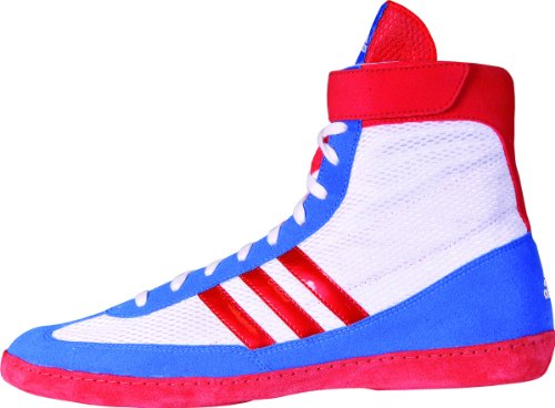 Adidas Speed â??â??Combat Taille 4 Wrestling Chaussures de jeunesse Bahia Bleu / chaux 1,5 Running White/Vivid Red/Blue Beauty