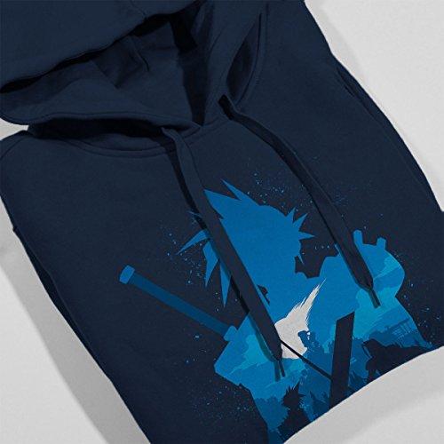 Final Fantasy Battle Silhouette Women's Hooded Sweatshirt Navy blue