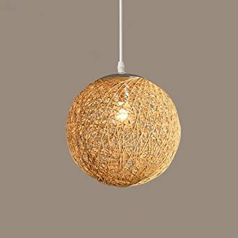 GQLB La Commission Haumlngelampe Kugel Lampe Wohnzimmer Kunst Rattan Sisal 200mm
