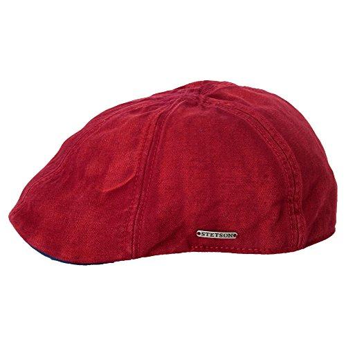 herringbone-used-texas-coppola-stetson-cappello-piatto-berretto-piatto-m-56-57-rosso