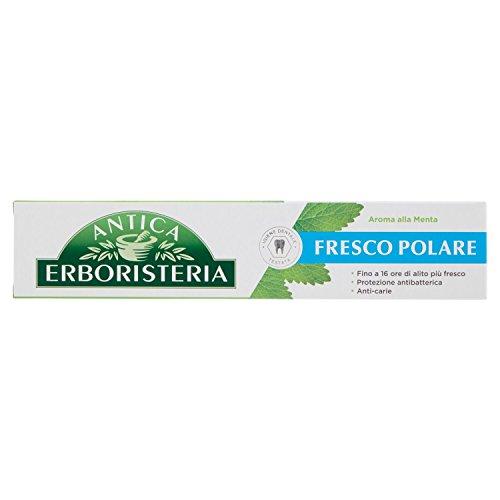 Antica erboristeria, dentifricio fresco polare, dentifricio per alito fresco con ingredienti naturali, gusto menta, 1x75 ml