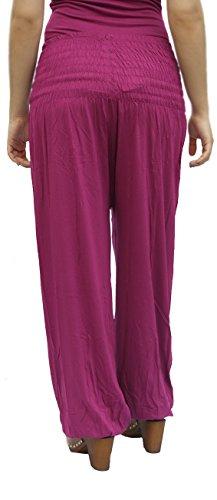 ... Damen Pumphose / Haremshose / Yoga Pant Stretch Pump Sport Aladin Hose  Dunkel-pink