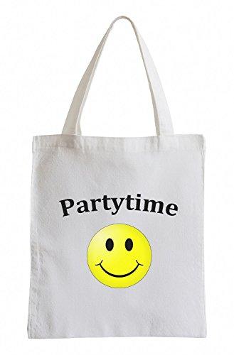 Partytime Club SmylieFun Party Clubwear USA Jutebeutel