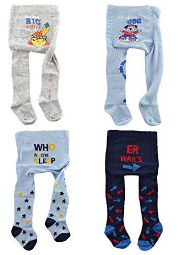 C&C KIDS Baby Strumpfhosen,4 Pack,86/92,navy/grau/hellblau