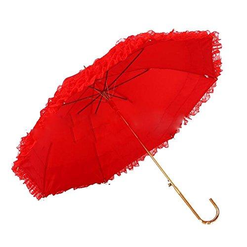 bpblgf Paraguas De La Boda De La Falda del CordóN De La Boda De La Barra De Oro De 58 * 8k Paraguas Rojo a, 01