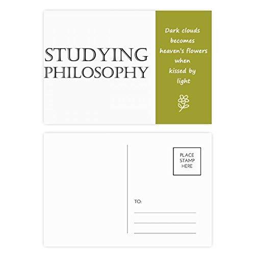DIYthinker Postkarten-Set mit kurzen Spruch zum Studieren der Philosophie Poesie, Danksagungskarten, Mailing-Seite, 15 x 9 cm, mehrfarbig, 20 Stück