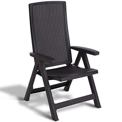 ALLIBERT Chaise de Jardin Inclinable Montreal Graphite Meuble de Terrasse