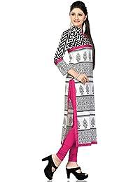 Kurtis For Womens New Style White Kurti Beautiful Exclusive Casual Cotton Women's Kurti Womens Cotton White Printed...