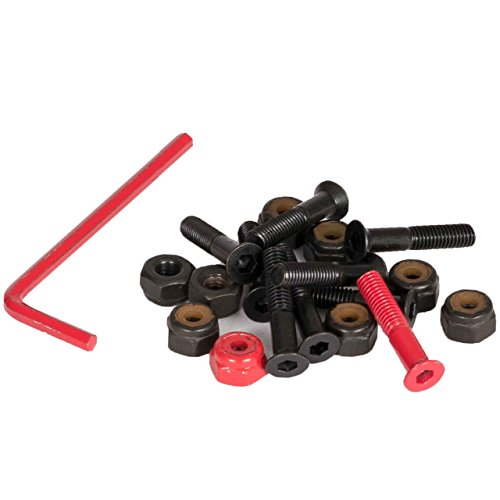 <span class='b_prefix'></span> Element Rations Hex Bolts x8 Black/Red 1Inch