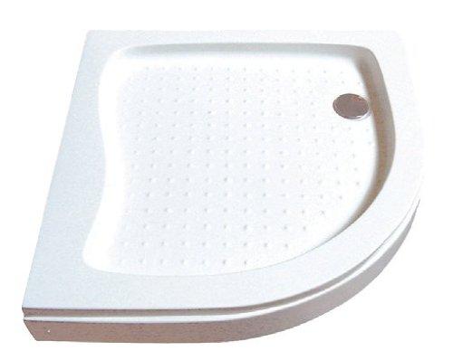 Sanotechnik Brausetasse für Rund-Duschkabine - Abmessungen: 80 x 80 x 16 cm