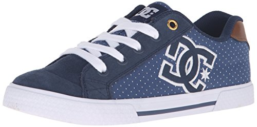 DC Chelsea SE Skate Shoe, Blue/Brown/White, 5 M US (Skate Damen Dc Schuhe High)
