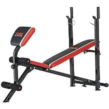York Fitness Banco de musculación Warrior 2 en 1, con pupitre de bíceps y Banco