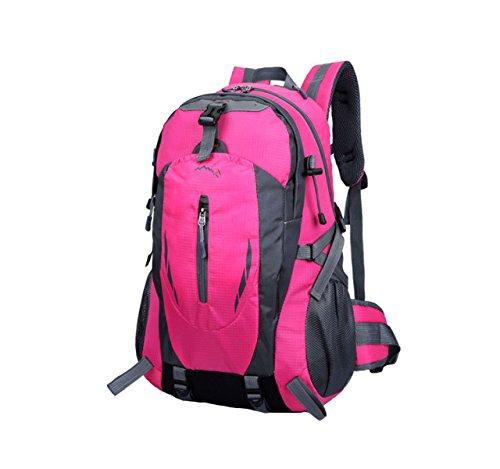 OGERT Outdoor Sports Viaggio Alpinismo Zaino Grande Capacità,Yellow Pink