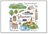 Imán para nevera con ilustraciones de Eslovenia