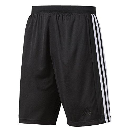 adidas Herren Design 2 Move 3-Streifen Shorts, Black/White, XL (Shorts Adidas Mesh)