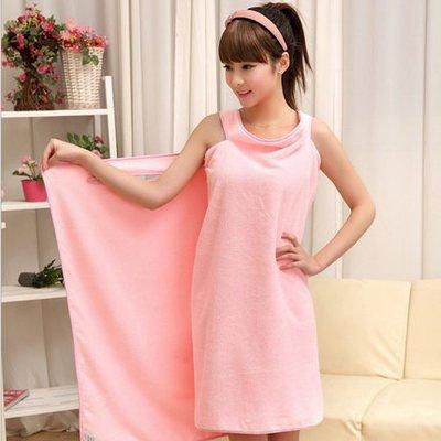 Kann Bad Handtuch nehmen ultrafeine Faser Handtuch Pyjama Bademantel weichen Bad Handtuch Männer und Frauen allgemeine Sorte Badetuch, Rose rot Pink