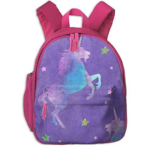 Zaino per bambini 2 anni,Unicorni viola e rosa Stars_5054 - linda_baysinger_peck, per scuole per bambini Oxford cloth (rosa)