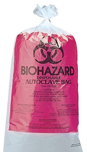 neoLab 3-1047 Biohazard-Autoklaviersäcke 61 x 76 cm, PP (100-er Pack)