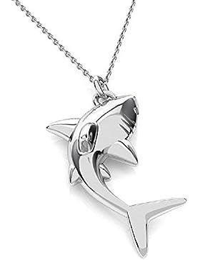 Crystals & Stones *HAI* Silber 925 *Halskette* Schön Damen Halskette - Anhänger Halskette Schmuck Mutter Geschenk...