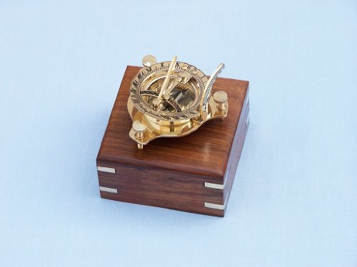 Capitán Brass triángulo Sundial demógrafo 7,62 cm   latón horas brújulas   decoración náutica decoración hogareña   regalo promocional ejecutivo