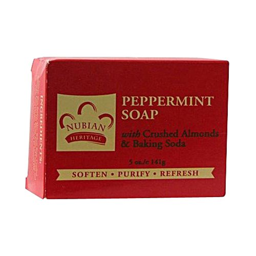 Nubian Heritage Soap Bar, Peppermint and Aloe, 5 Ounce by Nubian Heritage