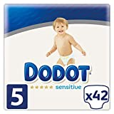 Dodot Sensitive - Pañales Talla 5, 42 Pañales, 11-16 kg
