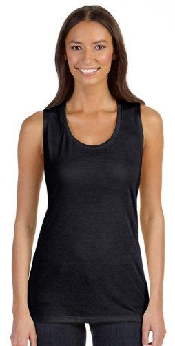 Bella Canvas Flowy incl. maglietta da donna Scoop B8803 Nero