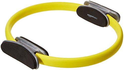 AmazonBasics Anneau de résistance pour entraînement Pilates et Fitness - 35,6 cm, Jaune, Lot de 2