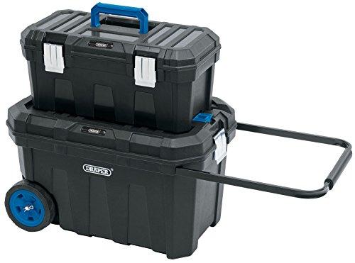 DRAPER 14712Mobile Bauunternehmer Brust und Tool Box, schwarz (Schwarz-mobile-tool-box)